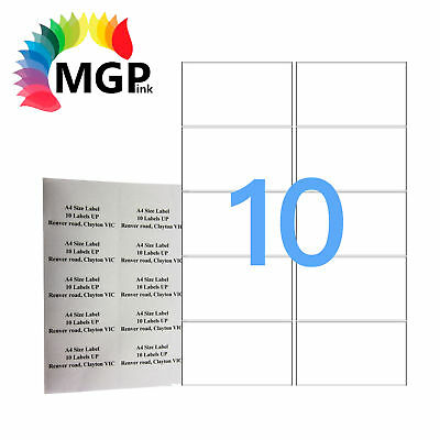 100 Sheets 10 Labels Per Page 1000 Labels 99.1x57mm A4 Office Mailing Labels