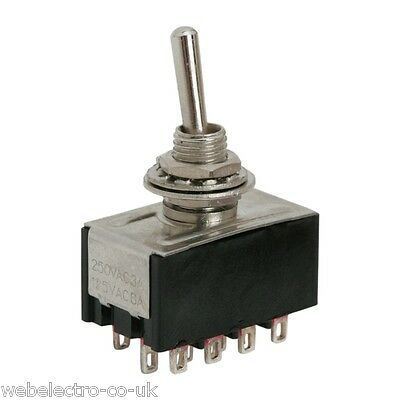 09055 Miniature Toggle Switch 12 Terminals 4PDT 2 Positions ON-ON 3A 250VAC