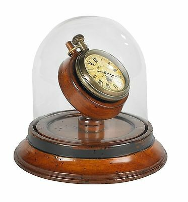 Authentic Models Victorian Dome Watch Antique Brass Replica French-Cherry Wood