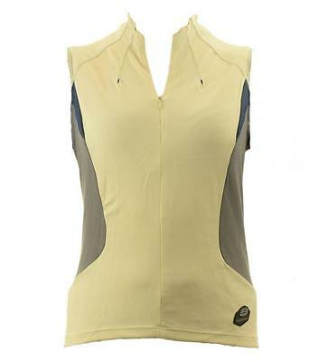 Briko Cycling Vest spinning woman short zip LUCID cream gray 010 395- DB