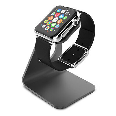 Apple Watch series 1 & 2 Charging Dock, Stand, Bracket, Holder, Aluminum - Black