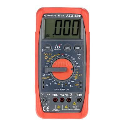 AT2150B Dwell Tach Automotive Meter LCD Digital Multimeter Tachometer US Shiping