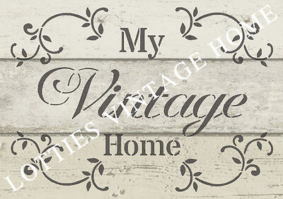 ❤️ STENCIL A5- MY VINTAGE HOME Furniture Fabric Airbrush - Shabby Chic 190 MYLAR
