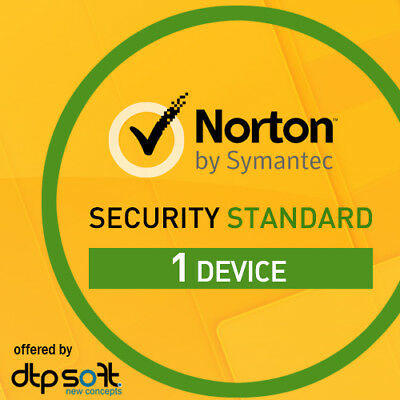 NORTON SECURITY 2018 1 Gerät 1 Jahr 1 PC/MAC 2017 Internet Security DE