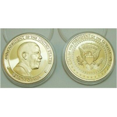 President Barack Obama Coin White House Gold Color Plated 44th Seal 1.5 INCHS