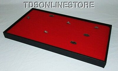 144 Ring Jewelry Display Case Red Insert