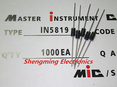 1000Pcs 1N5819 In5819 Do-41 Diode 1A 40V Schottky Barrier