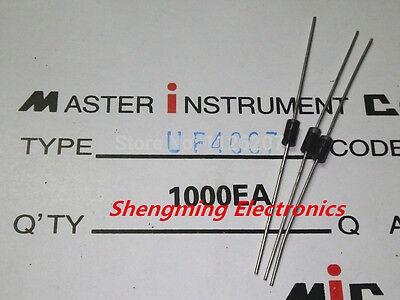 1000PCS UF4007 1000V 1A DO-41 fast recovery rectifier diode