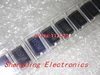 20pcs US1M UF4007 1A 1000V SMA Rectifier Diode Fast Recovery Diode DO-214AC