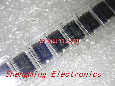 100pcs US1M UF4007 1A/1000V SMA Rectifier Diode Fast Recovery Diode DO-214AC