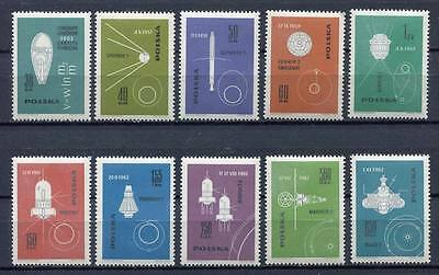 35705) POLAND 1963 MNH** Conquest of space 10v