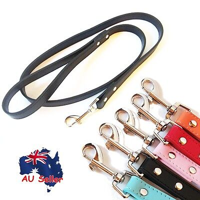 Genuine Real Leather Pet Dog Leash Lead Fully Lined 120cm