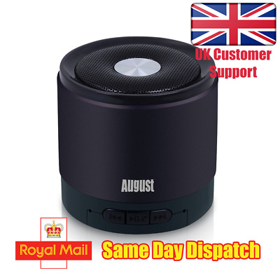 August MS425B-Wireless Bluetooth Mobile Phone Speaker with Microphone - Black