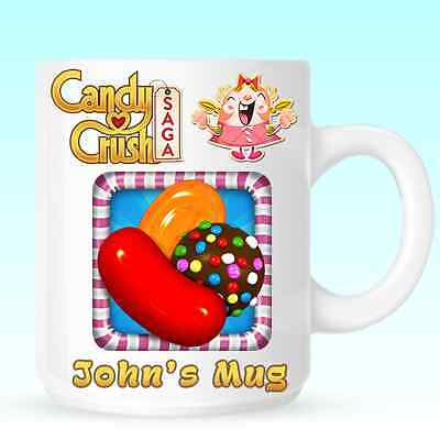 Candy Crush Saga Personalised Mug Cup Christmas Birthday Novelty Gift DE01