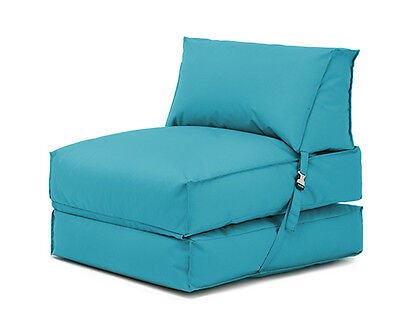 Turquoise Bean Bag Z Bed Lounger Outdoor Waterproof Garden Children's Kids Chair