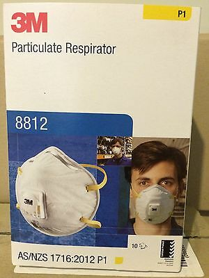 3M Cupped Particulate disposable Respirator 8812, P1, valved Mask Protection