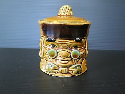 "Rare ""toby"" Ceramic Sugar Bowl Made In Japan"