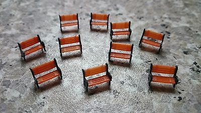 Model Platform Park Benches seats for N Gauge Railway 1:150 Scale Architecture