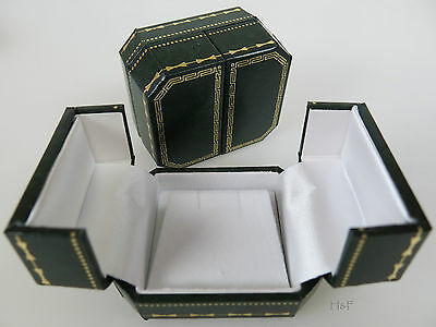 LUXURY ANTIQUE STYLE  EARRING JEWELLERY PRESENTATION BOX CASE - Vintage Green