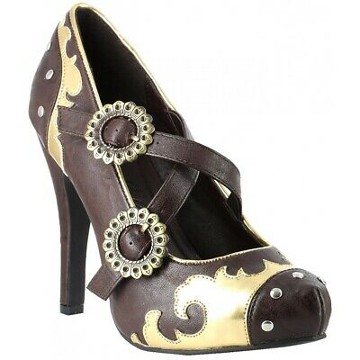 Steampunk Shoes for Women Adult Halloween Costume Fancy Dress