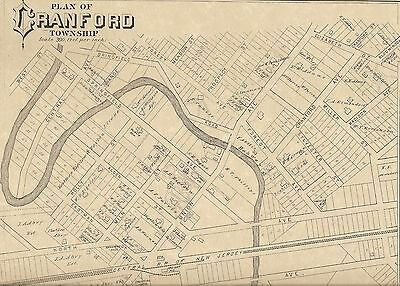 Cranford and Clark NJ 1882 Maps with Homeowners Names Shown