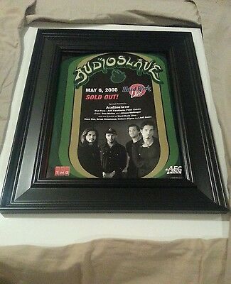 Audioslave Hard Rock Live Rare Concert Promo Ad Framed! Printed Once!