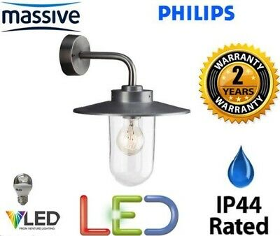 Philips VANCOUVER 17000/47/10 Stainless Steel Outdoor Wall Light Lantern IP44