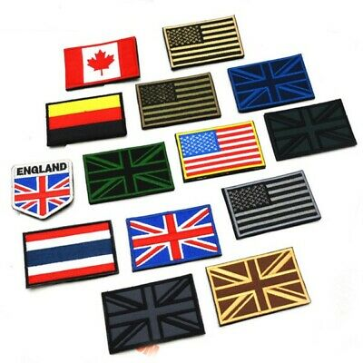 Fashion Hot Sale Nation Flag Emblem Patch Sew Embroidered Trim 2