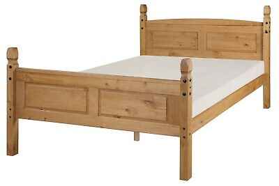 Corona Bed Frame 4ft6 Double High End Bedroom Solid Pine by Mercers Furniture®