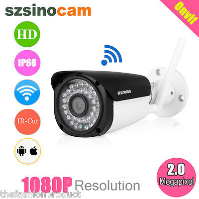 Telecamera Full Hd 2.0Mp P2P Wifi Ip Camera Wireless Cam Infrarossi Per Esterno