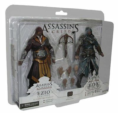 "Assassins Creed Revelations 7"" Action Figure Set Ezio Auditoire 2 Pack"