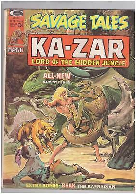 Savage Tales # 6  Ka-Zar Neal Adams - grade 4.0 scarce Marvel Magazine !!