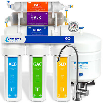 10-Stage 50GPD Reverse Osmosis Alkaline PH Mineral Water Filter System - ROALK5M