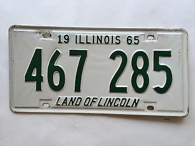 Illinois 1965 License Plate Garage Old Car Auto Tag Vintage Man Cave Wall