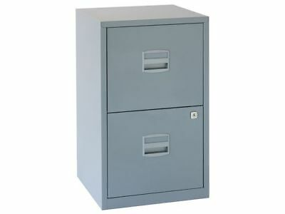 2 DRAWER 'BISLEY' STEEL FILING CABINET GRANITE GREY / A4 /  NEW + FREE DEL 24h