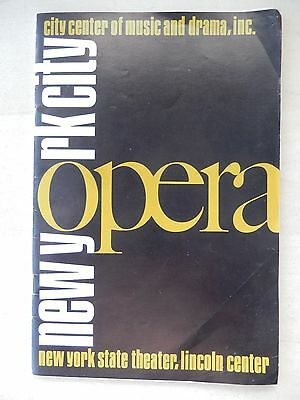 October 1971 - Lincoln Center Playbill  - Carmen - Metropolitan Opera
