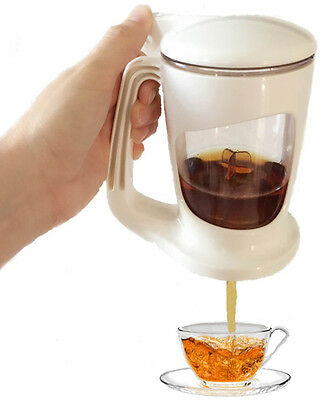 Thumbs up Brewer-Tea Maker-Tea Brewer-Mug-Tea Pot-Bottom Dispensing-White-18oz