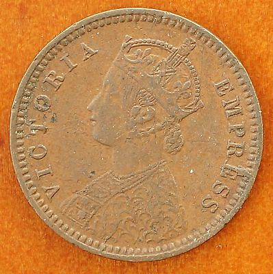 1901 C India British 1/12 Anna, 1 Pie KM# 483 Queen Victoria
