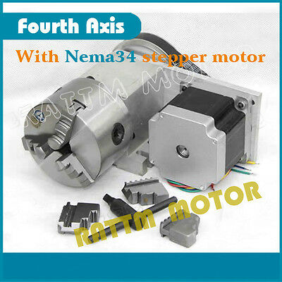 Zero Backlash CNC Rotary axis 3:1 CNC Router 4th Axis with NEMA34 stepper motor