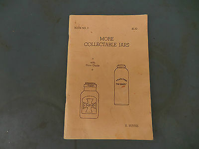"1968 ""More Collectable Jars"" with Price Guide Book by R. Burris"