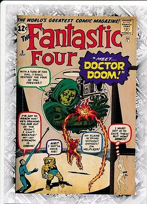 FANTASTIC FOUR #5 COVER B-10 2011 Upper Deck Marvel Beginnings I CARD