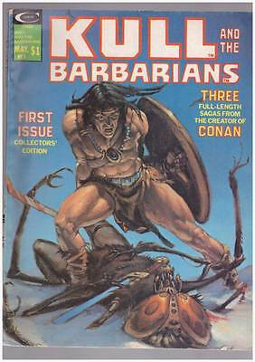 Kull & the Barbarians # 1 From the Creator of Conan grade 3.5 scarce Magazine !!