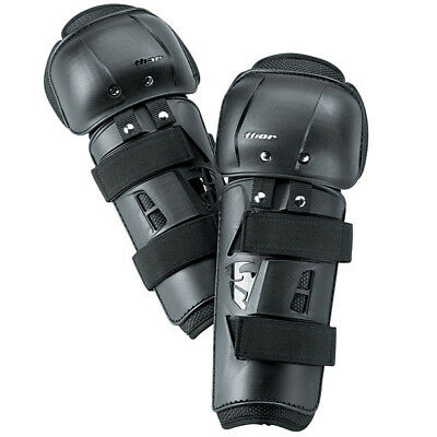 THOR MX Motocross Sector Knee Guards (Black) Adult/Kids Sizes