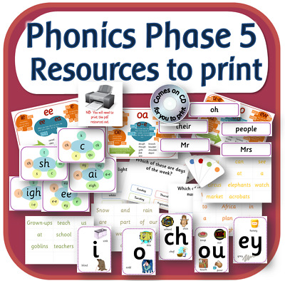 LETTERS AND SOUNDS PHASE 5 phonics primary teaching resources on CD KS1 KS2