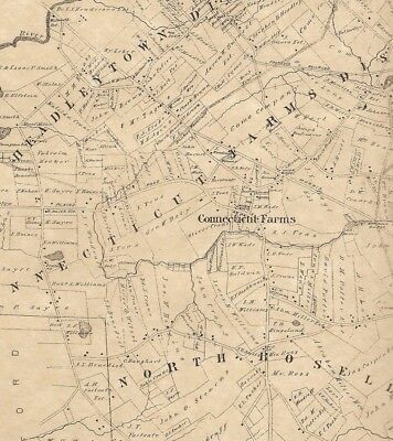 Union Roselle Kenilworth Hillside NJ 1882 Maps with Homeowners Names Shown