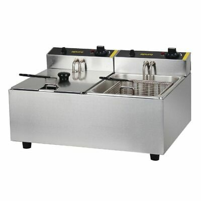 Benchtop Deep Fryer 2x 5L Double Vat, Chips  Fries Commercial Quality, Apuro NEW