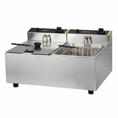 Double Benchtop Fryer / Deep Fryer, 2x 5 Litre Tanks, Chips / Fries, Apuro