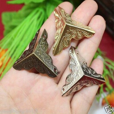 12X Decorative Antique Jewelry Wine Gift Box Wooden Case Corner Protector Guard