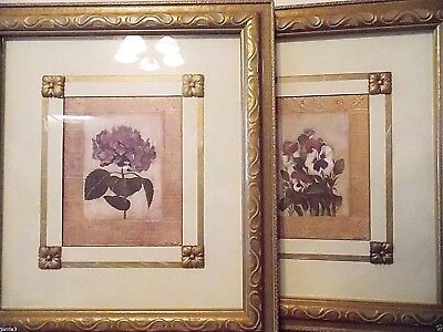 """Large Set Of Two Pictures Frame Home Decor  18""""X 16""""  Floral Pattern"""