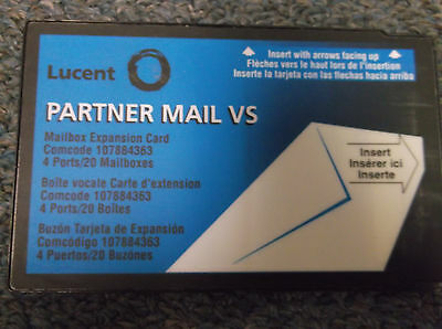 Lucent Avaya Partner VS Mail Release 4.0 & 4.1 107884363 4 Port x 20 Mailbox UG